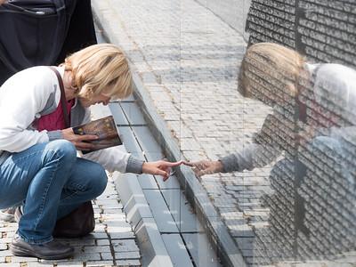 Korean,  Lincoln, Vietnam Memorials October 2016