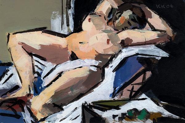 Reclining Nude (after Beckmann)