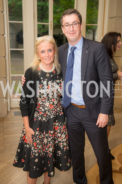 Congresswoman Debbie Dingell, Artur Orkisz,  50th Annual Meridian Ball Leadership Committee Reception at the Blair House, co-hosted with Ambassador Sean P. Lawler.  September 13, 2018, Photo by Ben Droz.