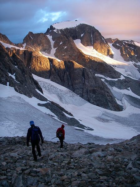 Today's goal: Gannett Peak - 13,804ft or 4.208m is finally visible.
