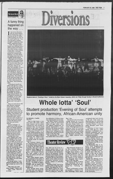 Daily Trojan, Vol. 119, No. 26, February 22, 1993