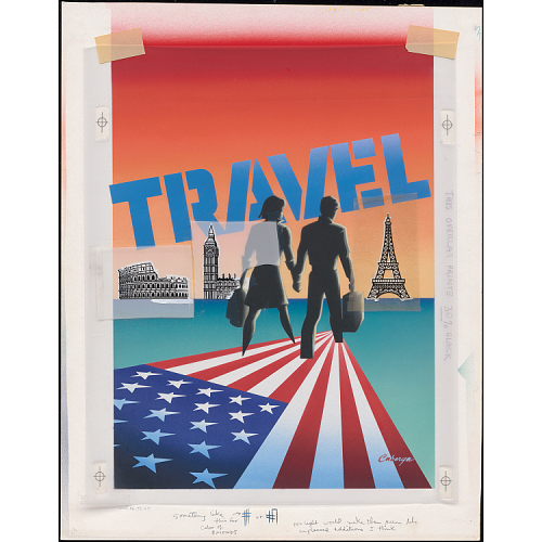 "Leslie Carbarga, ""Travel: Americans Everywhere,"" 1983"