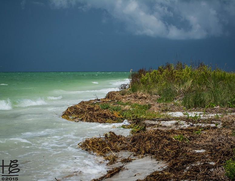 Lido Gulf Beach in storm