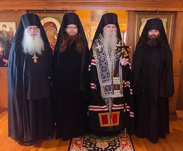 Tonsures of Rassophore-monks Aaron & Hilarion