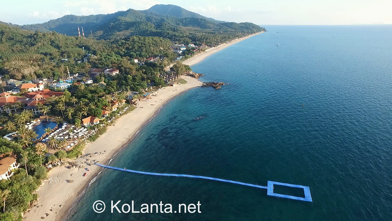 Klong Nin Beach Aerial View