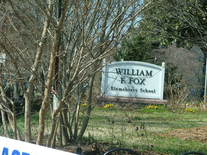 William Fox Elementary - 3 blocks down stafford from park