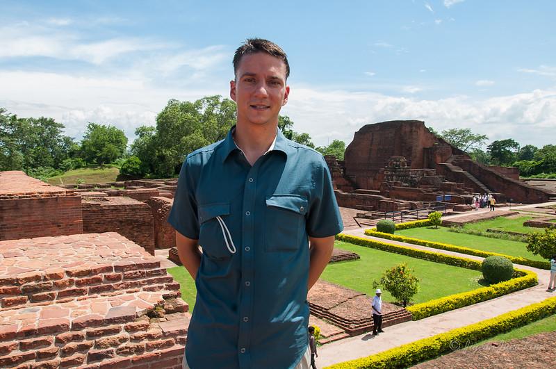 John at Nalanda Ruins