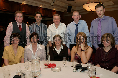 Down Masters Football team members and their Partners dining out at the Canal Court, Sean & Teresa MacRory, Paul & Karen Rogers, Terry & Carrie O'Higgins, Kevin & Siobhan Savage and Aiden & Fionula Rice, 05W13N67.