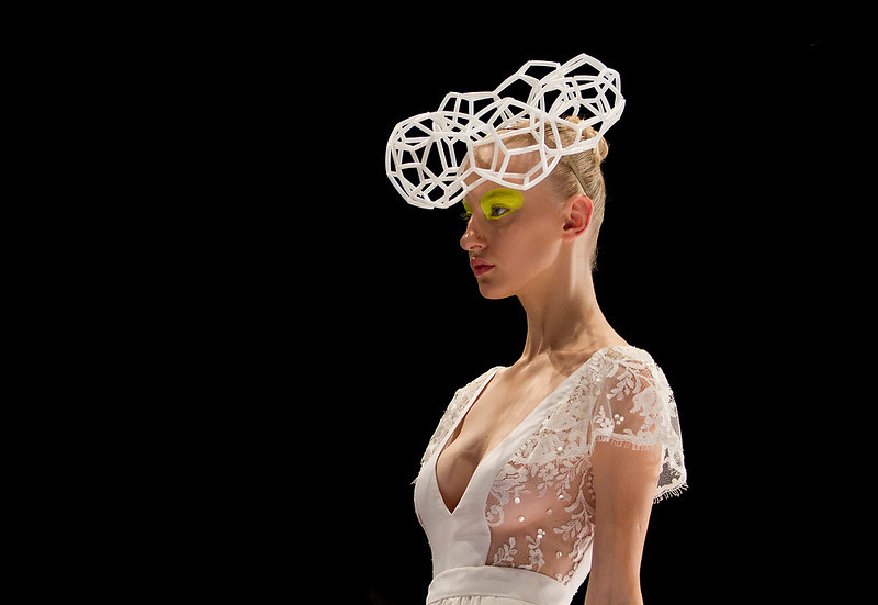 . A model wears a creation of Israeli designer Hagit Witman by her brand \'Fishndag\' during a show at the Tel Aviv fashion week in Israel, Wednesday, Dec. 19, 2012. (AP Photo/Ariel Schalit)