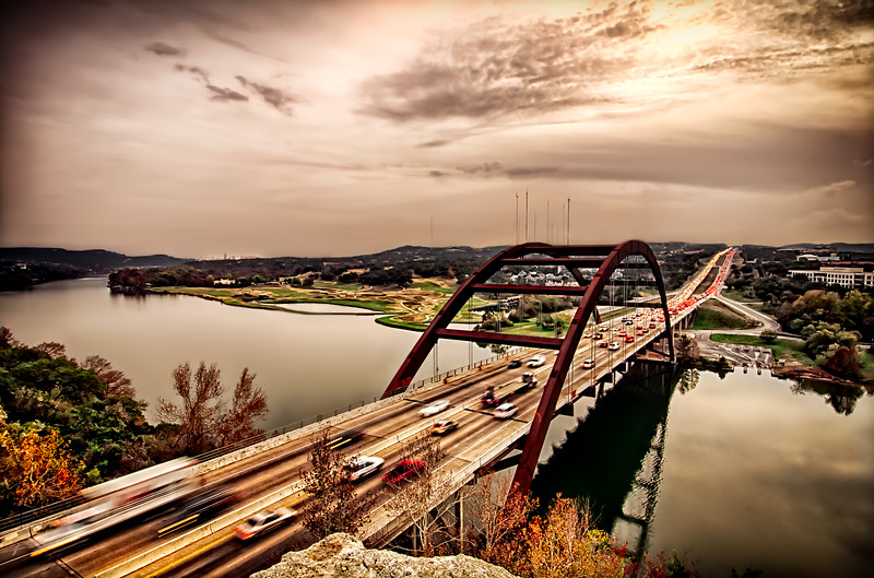 Pennybacker Bridge Sunset