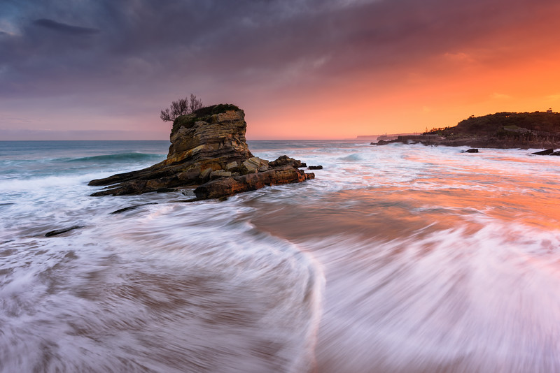 El Camello Beach, Santander. Cantabria, Spain.