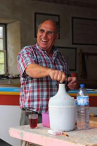 Mestre João Silveira Tavares, master boat builder, in his workshop in Riberias, Pico. August 10, 2012.