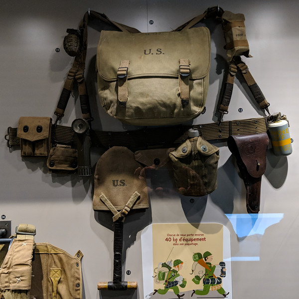 US Army infantry gear