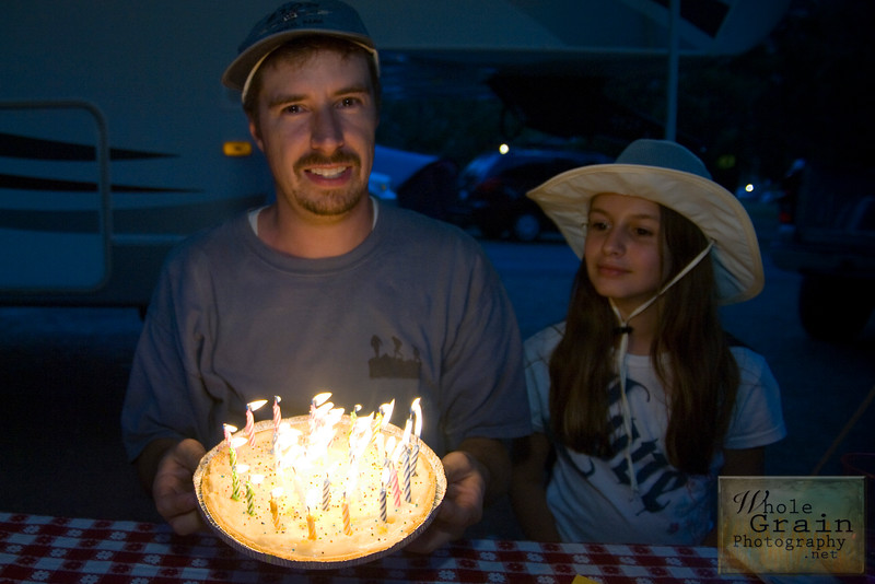 My hubby on his 37th Birthday.  We also celebrated an 11th Birthday for Little Miss, even though it was  a few days before her birthday.