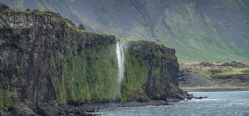 Cliff Waterfall in Iceland  Photography by Wayne Heil