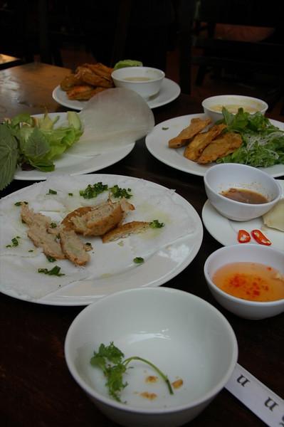 Crab, Wantons and Fresh Herbs - Hanoi, Vietnam