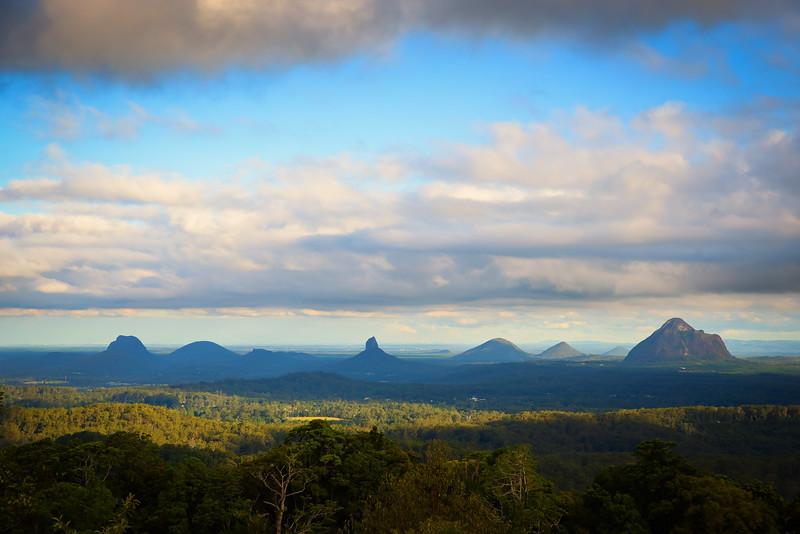 The Glasshouse Mountains, Australia