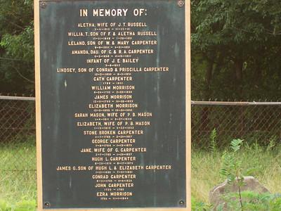Hustonville, KY Cemetery 9/4/2006