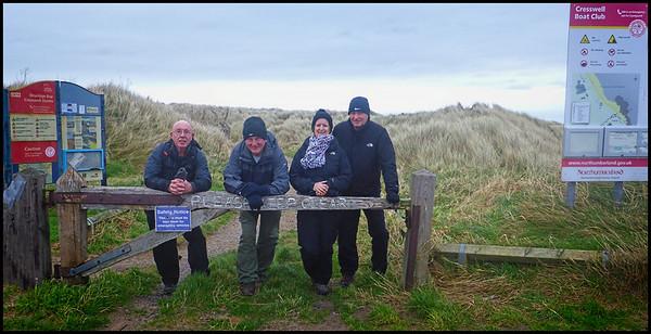 098 - Cresswell Beach Walk, Northumberland, UK -  2020.