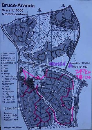 19 Nov 2018 Aranda street orienteering
