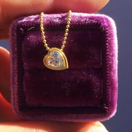 ".52ct Heart Diamond ""Askew"" Pendant"