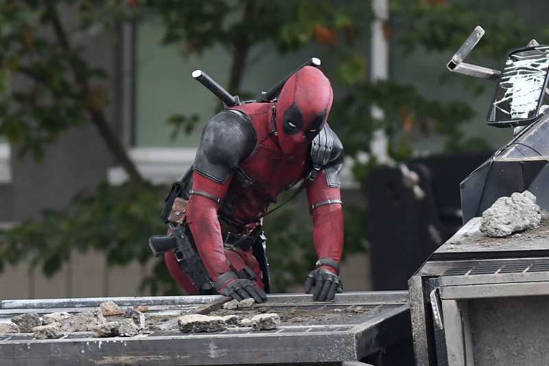 Ryan Reynolds Films A Truck Crash Scene With His Katanas in Vancouver, Canada