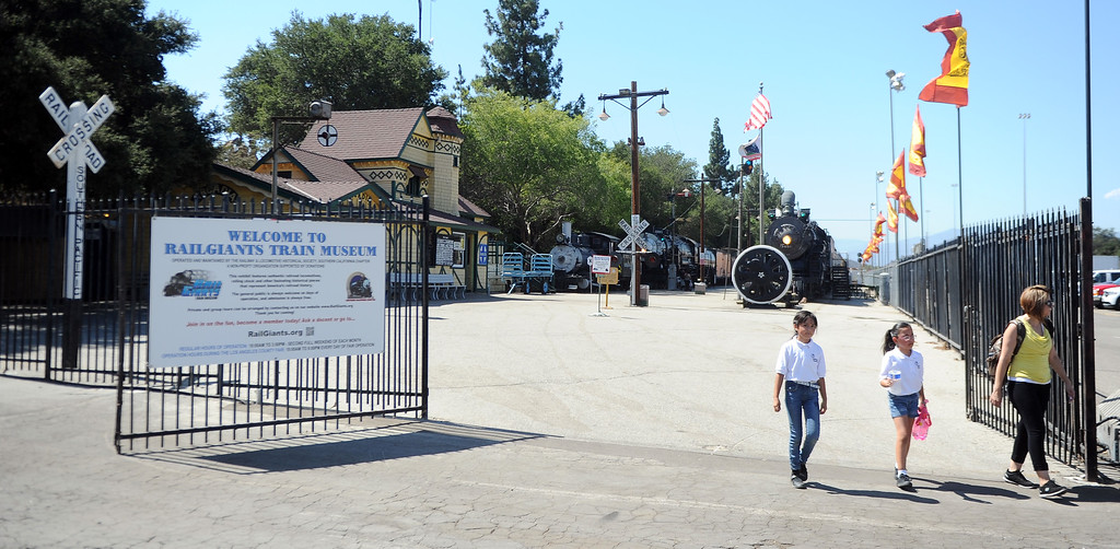 . The Railgiants Train Museum during the 91st Annual L.A. County Fair in Pomona, Calif. on Thursday, Sept. 5, 2013.   (Photo by Keith Birmingham/Pasadena Star-News)