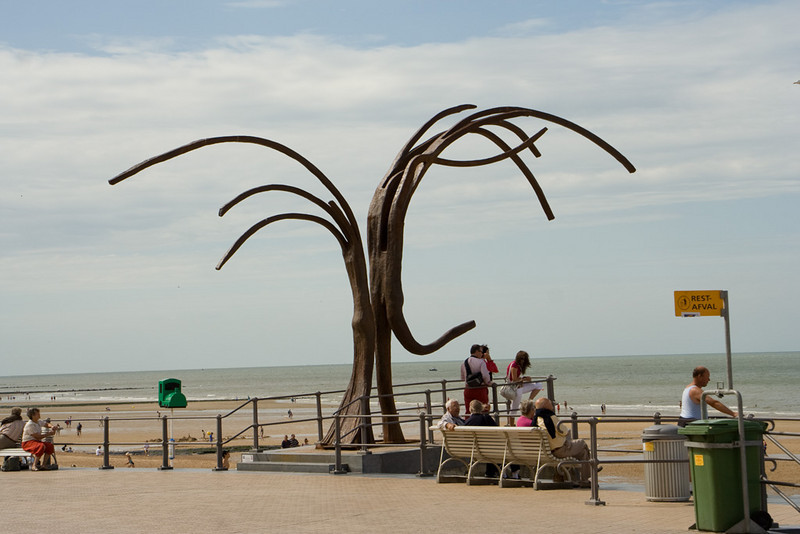 """Ostend. I thought of this sculpture as """"the dance of the sea anemones""""."""