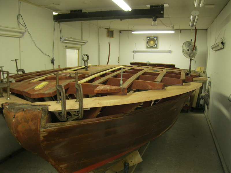 Front port view of bow plate replaced.