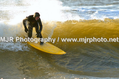 Surfing, Gilgo Beach, NY, (12-24-06)