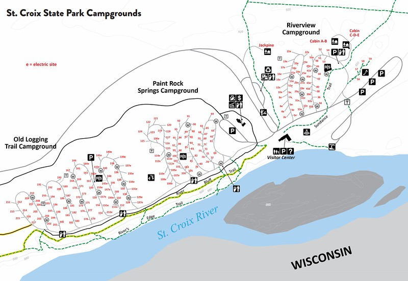 St. Croix State Park (Campground Maps)