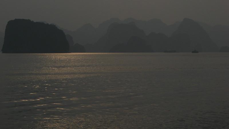 The bay at dusk.
