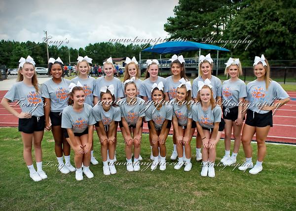 Cheerleaders at Calhoun Game 11 Aug 2017