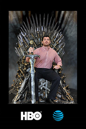 HBO Iron Throne Green Screen Photo Booth