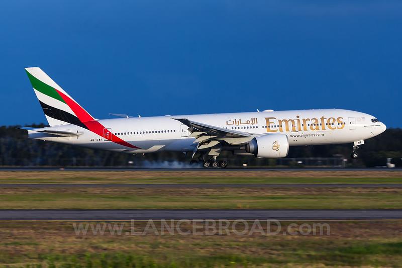 Emirates 777-200LR - A6-EWF - BNE