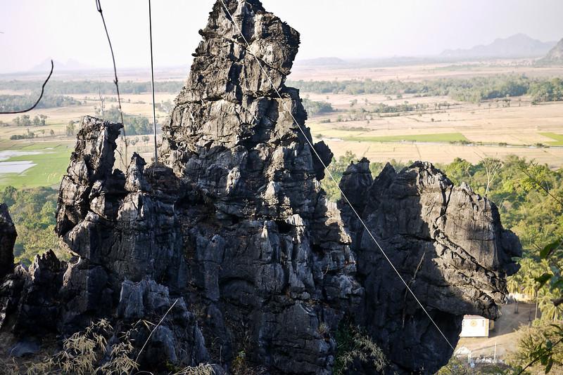 It looks like a camel in the rock near Hpa-An, Burma.