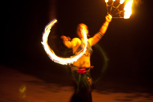 Ami Amore and Tracy fire and light dancing at OA, Music for the Earth festival, July, 2010