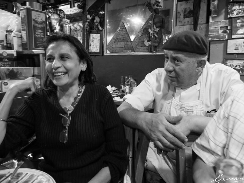 Dinner with Bela, Parag, Dev and Zorba