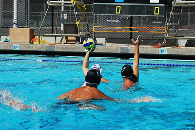 Masters Water Polo Nationals 2008, Moraga, California - 50+ Men - Tri Valley vs Tri Valley Blue 6/6/08. Final score 12 to 5.