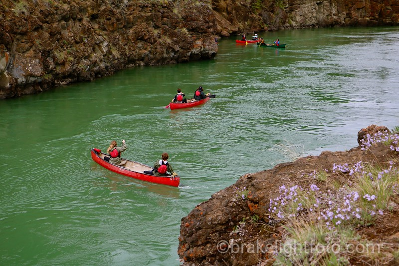 Canoeists in Miles Canyon
