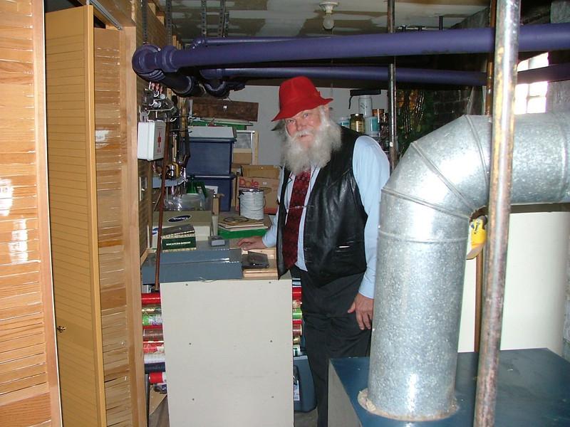 Al in furnace room/workshop