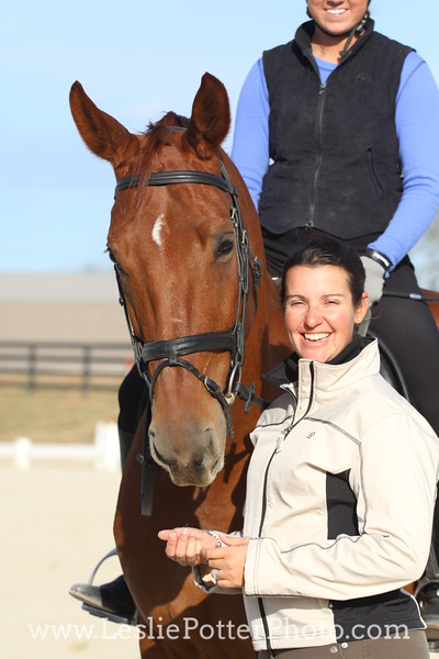 Dressage Horse with Trainer