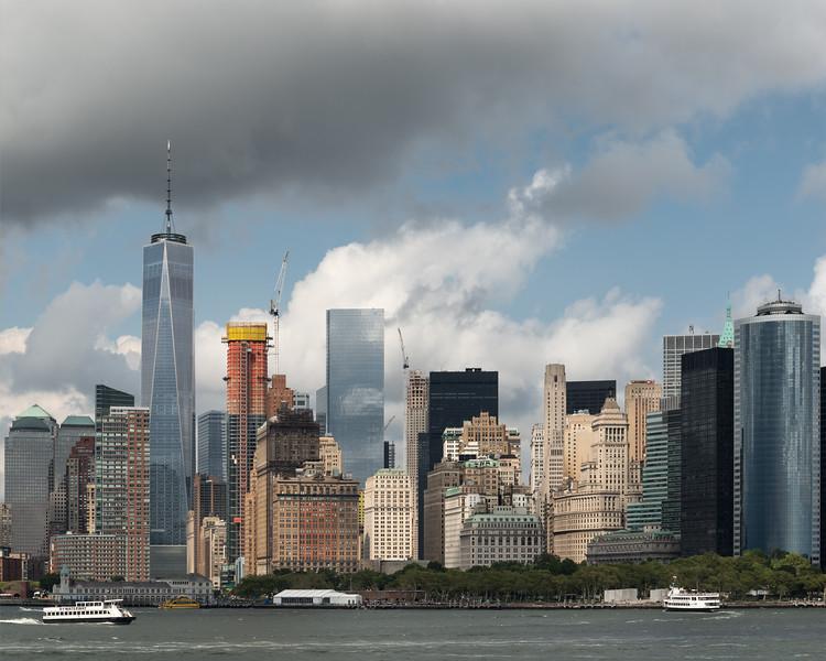 Manhattan - Staten Island Ferry, New York, NY, USA - August 19, 2015