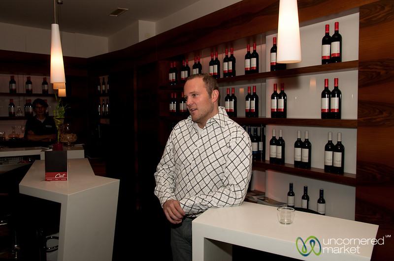 Rainer Christ in His Wine Bar - Vienna, Austria