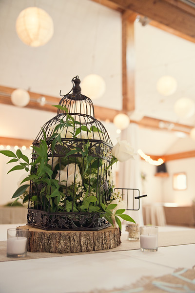 head table birdcage centerpiece