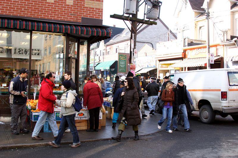 Corner of Baldwin St  and Kensington Ave