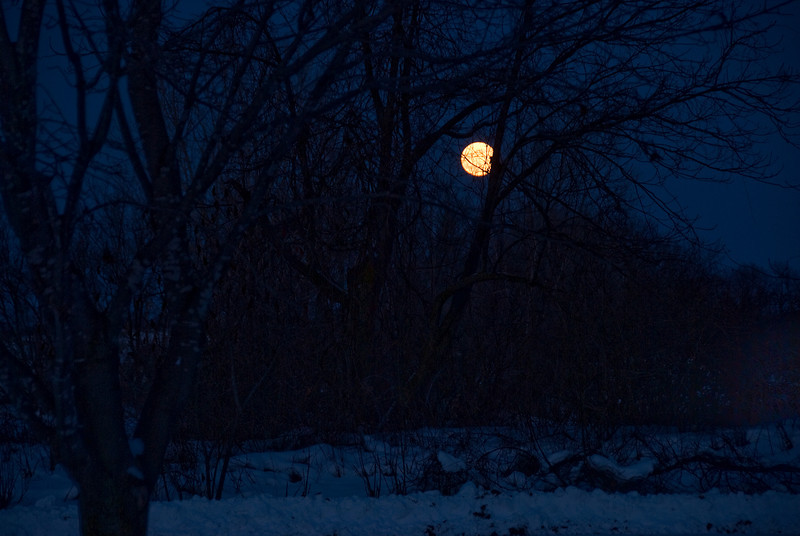 Full moon over Appleton in Wisconsin