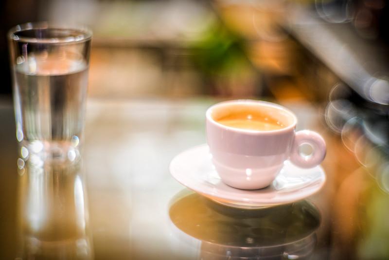 Close-up of an espresso coffee