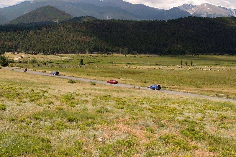 Moraine Park, Rocky Mountain National Park, Colorado. We, along with others, bid the Park adieu.