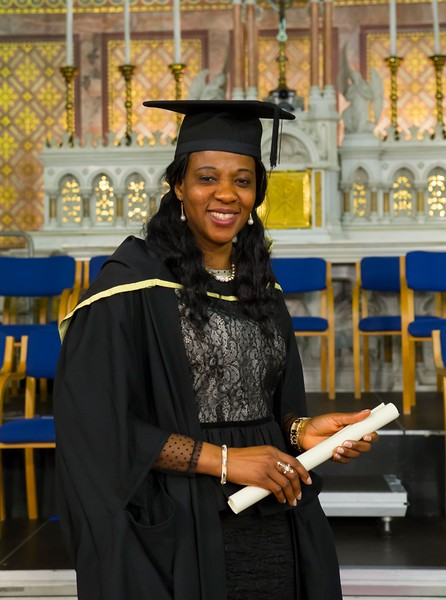 Waterford Institute Of Technology Conferring. Pictured at WIT Waterford Institute Of Technology Conferring is Perpetual Eremionkhale who graduated Master of Arts in Education. Picture: Patrick Browne
